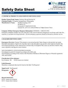 ProGrip Safety Data Sheet