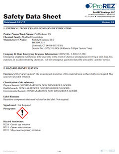 ProThickener FX Safety Data Sheet