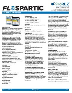 FlexSpartic Technical Data Sheet