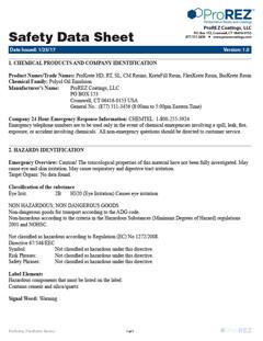 FlexKrete Safety Data Sheet