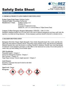 ProKrete Catalyst Safety Data Sheet