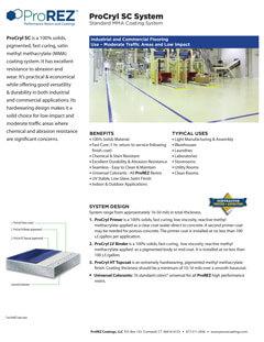 SystemSheet - ProCryl SC
