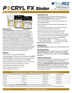 ProCryl FX Binder Technical Data Sheet