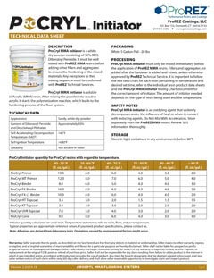 ProCryl Initiator Technical Data Sheet