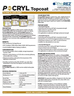 ProCryl Topcoat Technical Data Sheet